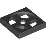 全新LEGO樂高黑色轉盤底座【3680】Turntable 2x2 Plate Base 368026