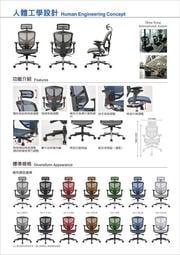 台中豪優-萬元以下銷售冠軍ENJOY 121 企業版(椅背新增腰墊)高背全網椅贈腳踏板