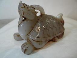 早期 和闐玉 青白玉仔料 精雕...龍龜神獸  分享價!