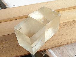 礦石園P5476*天然冰晶黃方解石原礦 2個250g*黃冰角*特價~數量有限