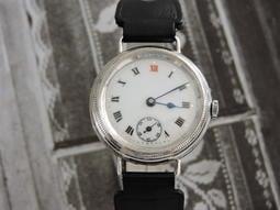 瑞士真品 佚名 925 純銀 彩繪陶瓷砝瑯古董錶