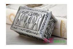 【埃及風格飾品盒藏寶護使】小型首飾盒 可放戒指 津星生活館
