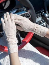 超商三件免運 防曬袖套 防曬手套女夏防紫外線薄款透氣防滑戶外開車騎行全指防滑短款手套