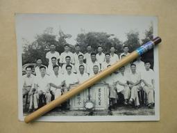 文獻史料館*老照片=民國43年台糖試驗所服務40年及18年合影老照片(k367-10)
