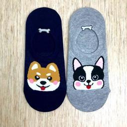 韓國直送 時尚可愛柴犬法鬥狗狗造型襪子 流行時尚 正韓 短襪 流行百搭 學生襪 女襪 造型襪
