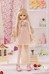 as 三分 粉紅兔兔吊帶裙套裝