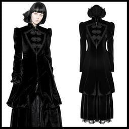 *MINI PUNK LOLO*歐洲中古世紀-華麗的噬血族闇夜女爵華麗蕾絲雕花哥德大衣外套(WY-895)GOTHIC