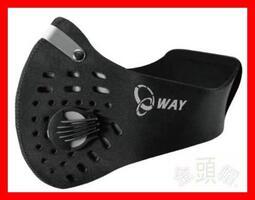 ㊣金頭帽㊣【實體店面】【WAY 活性碳 口罩】可替換 特殊機能 過濾片 機車 口罩