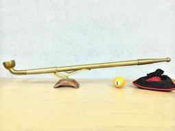 ◤球球玉米斗◢ 旱煙斗 (全銅可伸縮 長版45公分、拉開67公分) 旱煙鍋 旱煙桿