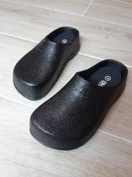 ♡戀鞋坊♡男/女防滑防油防水膠底勃肯廚師鞋 勃肯拖鞋 勃肯包鞋 工作鞋PVC荷蘭鞋Two Boss台灣製造MIT(黑色)