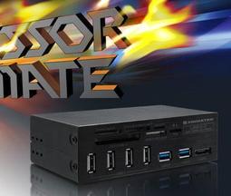 光華CUMA散熱精品*Xigmatek 前置5.25 USB3.0 讀卡機 + USB HUB 全新 特價出清~現貨