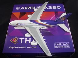 """☆☆飛機小舖☆☆全新Phoenix泰國航空A380-800""""新塗裝HS-TUD""""**1:400只要1300元"""