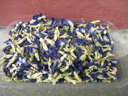 蝶豆花(乾燥花)天然栽種 無噴灑農藥 100朵35元  (約可沖泡500cc 10-15杯左右)買5包免運