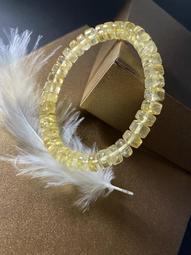 8mm天然黃水晶手鍊黃水晶手珠,實物拍攝M1