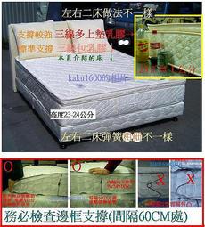 【南港床管家=全球832】判斷大陸床說明◎雙人三線內包一吋乳膠880跟680開拉鍊獨立筒床墊(北市工廠試躺)