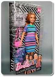 * B & J 特賣店 *~全新芭比時尚服飾組,條紋風胖芭比(平腳)。