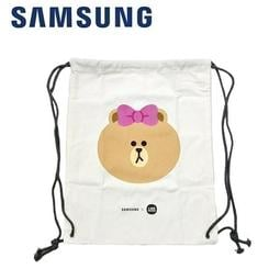 [958-3C] Samsung LINE FRIEND 帆布束口後背包 (CHOCO)