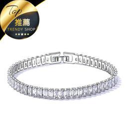 《現貨 簡約超亮女生手環》歐美手環 鍍白金 女生手鍊 手環手飾【SW000987】