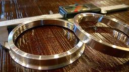 VOLVOSAAB雪鐵龍73.1轉65.1鍛造鋁合金輪框改孔軸套中心孔軸套束心輪圈軸套鋁合金軸套襯改孔套環