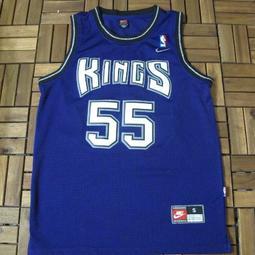 NBA 復古電繡網眼款白色巧克力 Jason  Williams 國王隊 NBA  55號 AJ KB LBJ KD ROSE WADE WILLAMS 傑森威廉斯國王隊