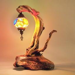 樹燈之家 雙色崖柏 三義大師黃金池喜鵲雕刻 燈飾 木雕 藝術品 SS034