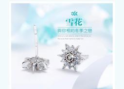 CDE 雪花--S925純銀耳環 / 韓風甜美系個性耳環 / 送禮推薦 訴說你的愛