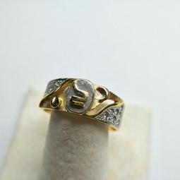 和運精品 星座系列雙色K金鑽石戒指