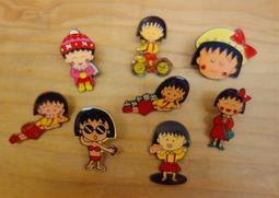 ▲美好時光▼ 早期收藏-可愛櫻桃小丸子 徽章 玩具公仔 老玩具/懷舊童玩復古收藏 合售
