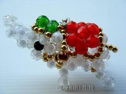 【哩哩扣扣 串珠】珠中珠 吊飾 手工串珠 小金象  泰國象  彩虹象  大象  串珠材料包  串珠成品
