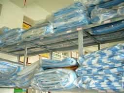 [ 宜蘭帆布店 ]  10尺x10尺 PE淋糢藍白條帆:地布.卡車帆.圍邊布( 厚 )*工廠直營*批發直購價*300元~