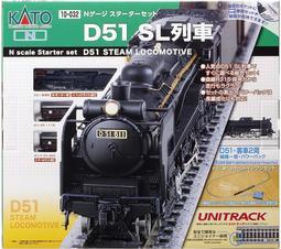 (現貨)KATO 10-032 スターターセット D51 SL列車