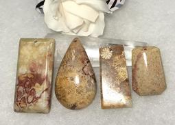 發財玉~紅色黃金~海底有機寶石~天然珊瑚玉任意門吊墜 (附棉繩) (圖左四)