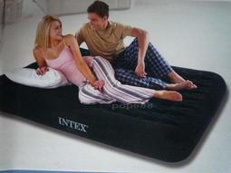 INTEX66725 原廠 獨立氣柱雙人加大充氣床203*152*23cm送修補貼和收納袋露營床空氣床墊家居或飯店加床