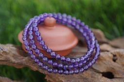 阿木小舖~天然紫水晶3圈手鍊 手串 手環 項鍊5mm~(350含運)500986