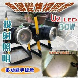 F1C49 魚眼變焦手提燈 CREE XM-U2 LED 帳篷露營燈 投射照明燈 工作手提燈 比T6 LED亮  防水探