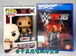 缺貨【PS4原版片】☆ WWE 2K16 ☆英文亞版全新品【含Funko 公仔】台中星光電玩