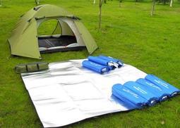 新流行 200*200cm 無拼接 雙面鋁箔 防潮墊 野餐墊 座墊 露營帳篷地墊 多人海灘墊 附收納袋