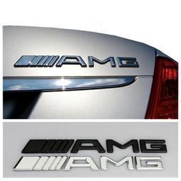 適用於Mercedes Benz賓士奔馳AMG車標 奔馳///AMG金屬貼標 奔馳AMG貼標銀色 金屬貼