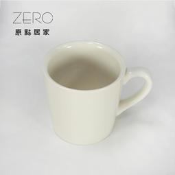 原點居家創意 白色加厚陶瓷馬克杯 240cc