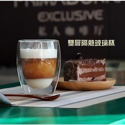 【原點居家創意】簡約創意無鉛雙層隔熱玻璃咖啡杯拿鐵杯果汁杯玻璃杯花茶杯耐熱杯(360cc)