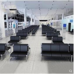 理發店沙發機場椅連排椅三人位休息椅等候椅子四人位公共場所座椅