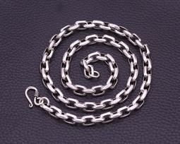8MM粗款泰銀純銀項鍊(不含墜) 太角環扣造型銀鍊 純銀鍊子 鎖骨鍊 套鍊 925純銀項鍊 延長鏈 男女款細項鏈N043