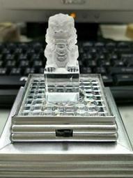 激光料水晶印章(獅)34g*45mm*20mm(附燈座)有天然內裂不介意再下標