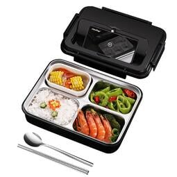 現貨 yo ki德國kunzhan304不銹鋼飯盒分隔型便當餐盤分格上班族食堂打飯便攜