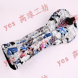 現貨 yo ki新款高爾夫球桿套 骷髏頭英國旗印花 一號木 球道木 鐵木桿保護套