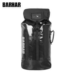 巴哈 BARHAR 45升防水背包 溯溪包 大容量後背包 全黑款(有背負系統)