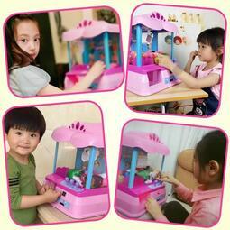 【行運精品】抓娃娃機抓娃娃機迷你夾公仔機器投幣小型遊戲機糖果兒童玩具 【】