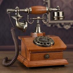 【行運復古】歐式復古電話機座機家用仿古電話機時尚創意老式轉盤電話無線插卡