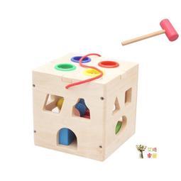 快速出貨 積木 敲球盒形狀配對盒 兒童玩具 顏色認知 形狀認知 敲球 幼兒學習 尾牙