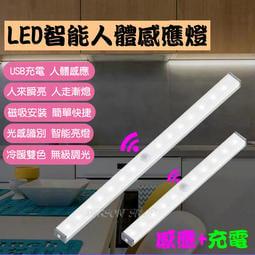 【爆款熱銷】LED 人體感應燈 USB充電 光控感應燈 廚房 照明燈  櫥櫃燈 小夜燈 LED感應燈 床頭燈 露營燈